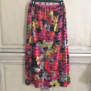 Dresses & Skirts - Floral Tiered Ruffle Long Colorful Skirt